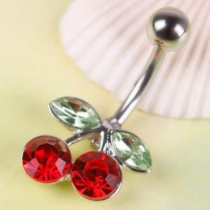 Jewelry - Red Cherries Bellybutton Ring/ Navel Barbell CUTE!